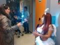 La vedette peruana se disfrazó por la fiesta de Halloween