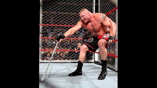 Lesnar venció a Triple H. Galería de fotos pinchando aquí.