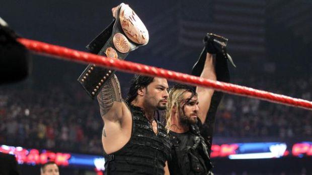 Payback 2013. Fotos: The Shield (Rollings y Reigns) vs Daniel Bryan y Randy Orton