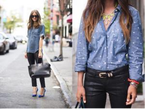 La blusa denim: es un must have en el clóset