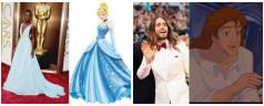 Algunos personajes de Disney en los Premios Oscar