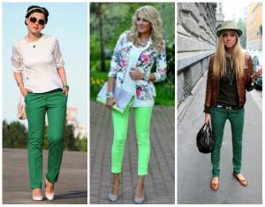 ¿Cómo combinar un pantalón verde?